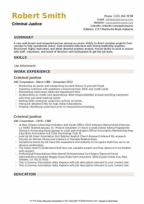 criminal justice resume samples qwikresume objective pdf training director action verbs Resume Criminal Justice Resume Objective