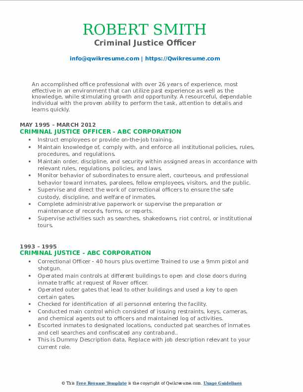 criminal justice resume samples qwikresume sample for recent college graduate pdf Resume Sample Resume For Recent College Graduate Criminal Justice