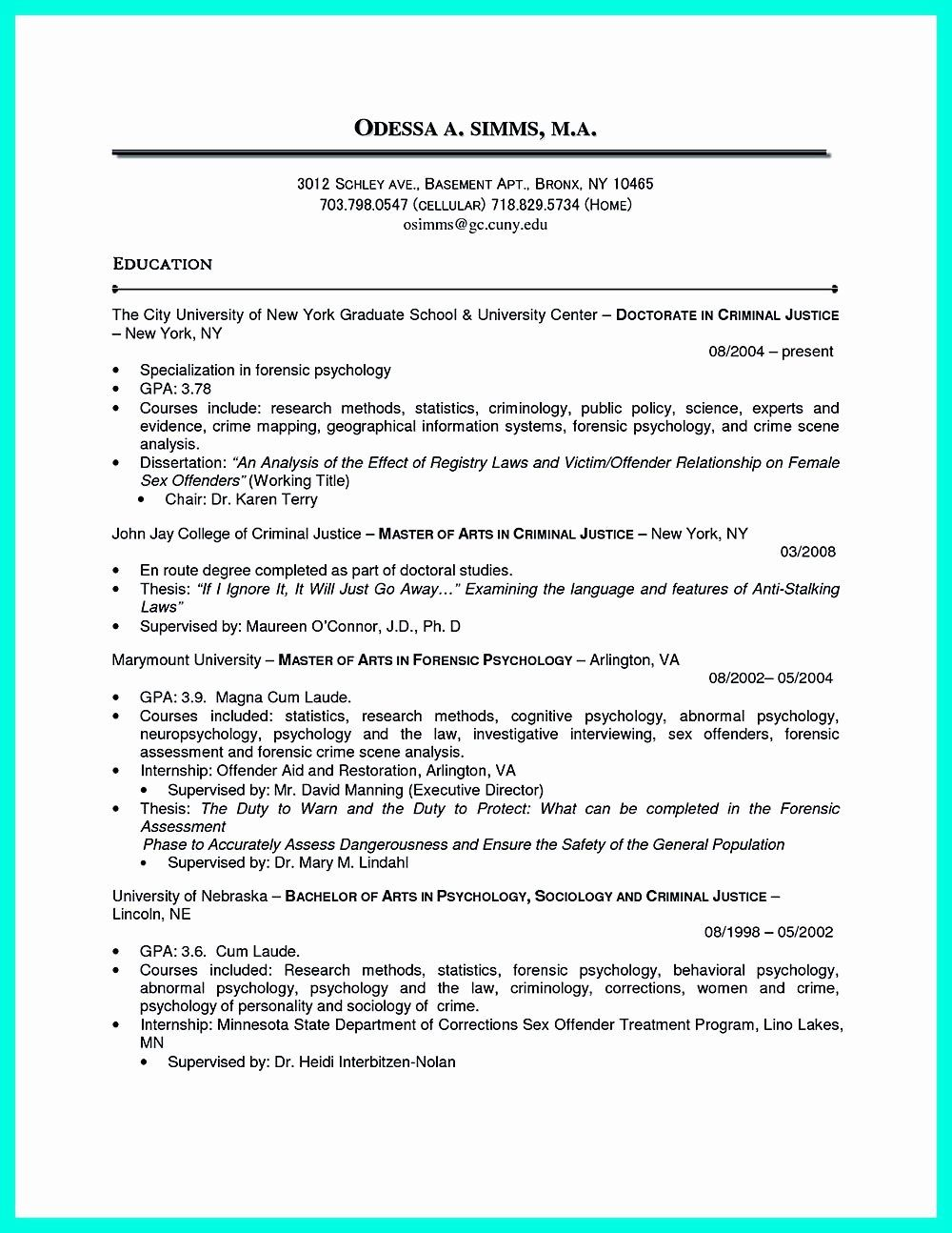 criminal justice resume with no experience printable template in chronological examples Resume Sample Resume For Recent College Graduate Criminal Justice