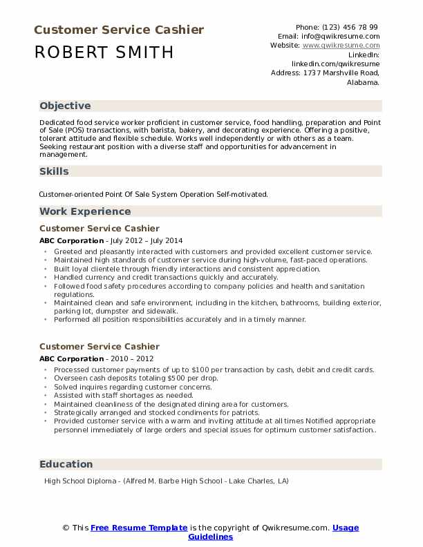 customer service cashier resume samples qwikresume responsibilities pdf good college Resume Cashier Responsibilities Resume