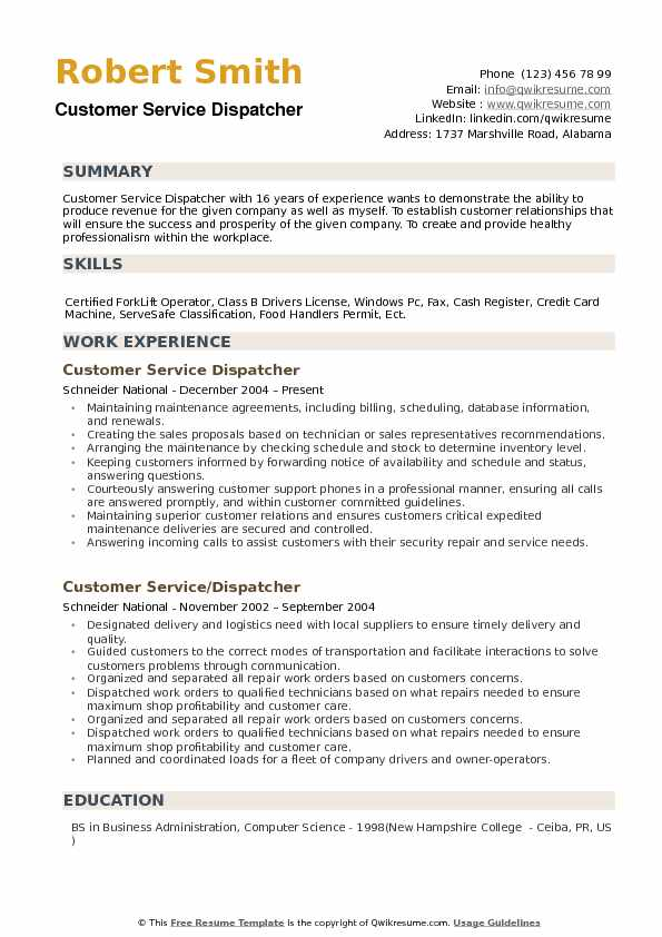 customer service dispatcher resume samples qwikresume skills pdf embellishing your Resume Dispatcher Resume Skills