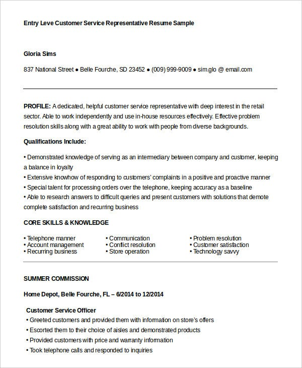 customer service representative resume free sample example format premium templates Resume Client Service Officer Resume