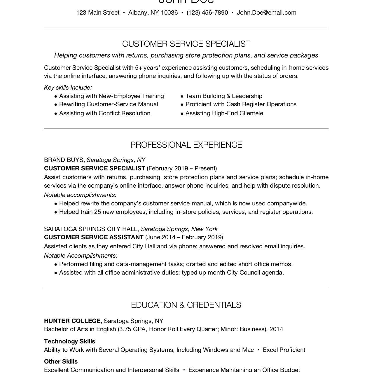 customer service resume examples and writing tips job description for mixologist paper Resume Customer Service Job Description For Resume