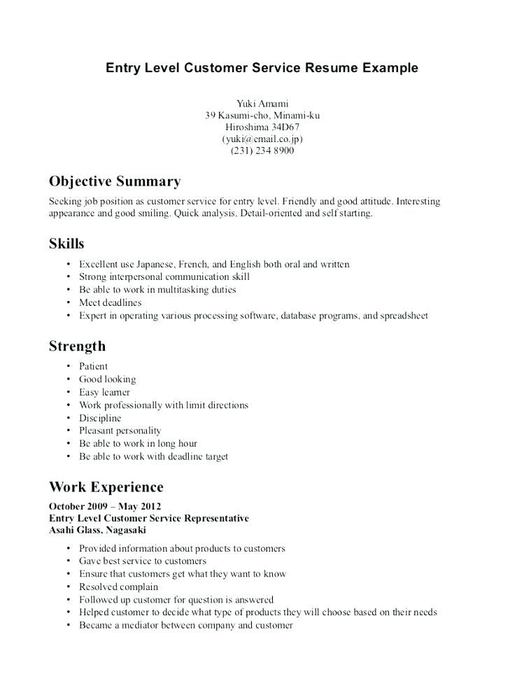 customer service resume objective or summary examples technical program manager assistant Resume Resume Examples Customer Service Objective
