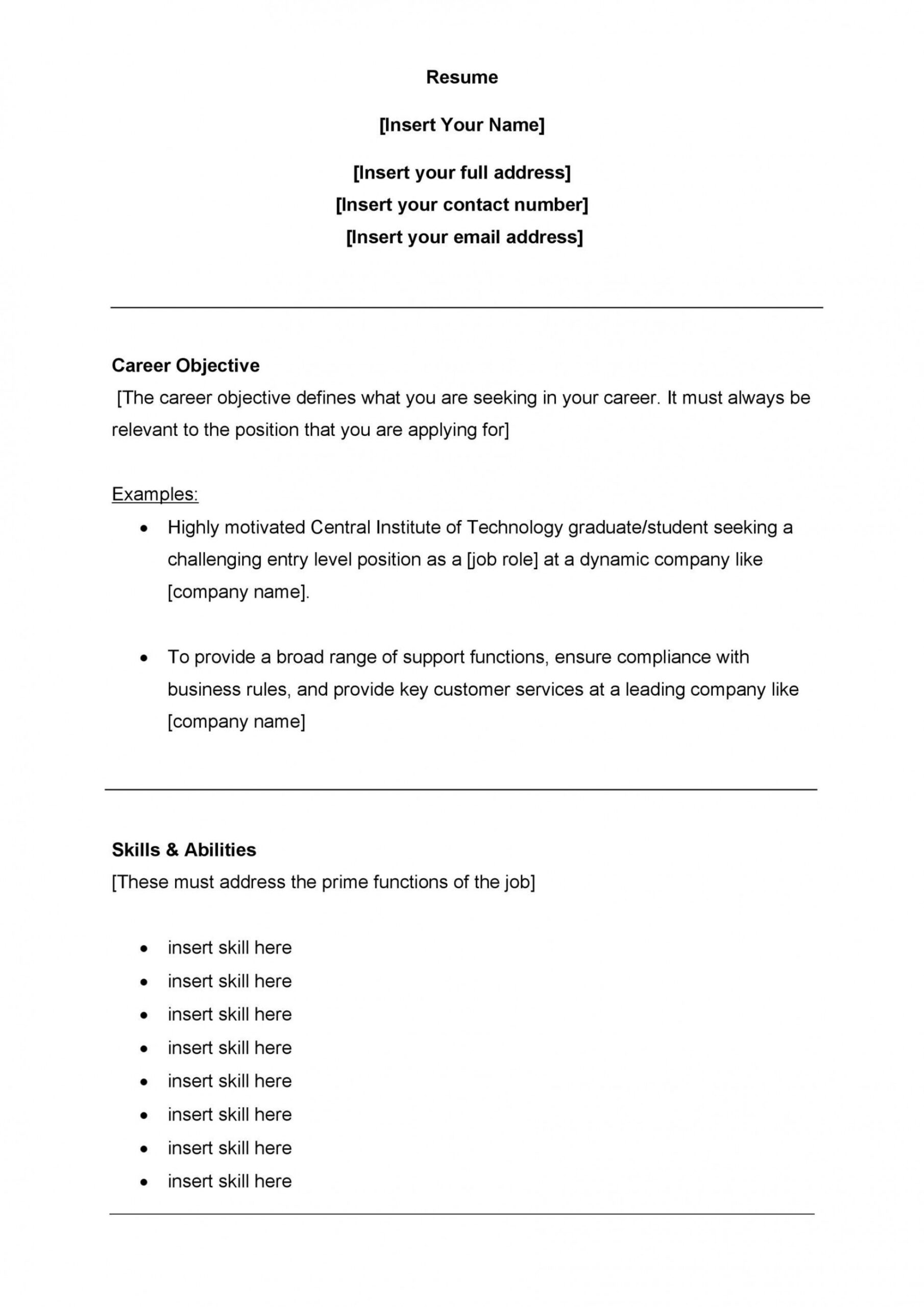 customer service resume template free addictionary career objective for best example data Resume Career Objective For Resume Customer Service
