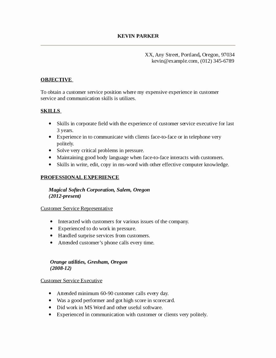 customer service resume template free new fillable printable pdf in skills samples one on Resume Customer Service Resume Samples Free