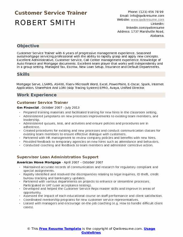 customer service trainer resume samples qwikresume examples objective pdf industrial Resume Resume Examples Customer Service Objective
