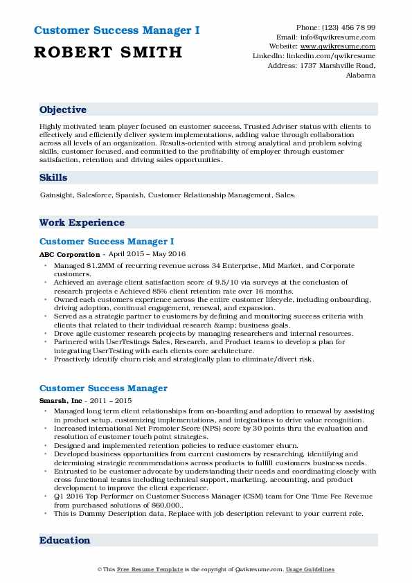 customer success manager resume samples qwikresume pdf general objective template with Resume Customer Success Resume