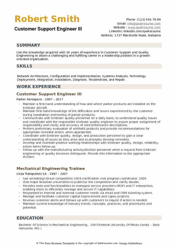 customer support engineer resume samples qwikresume technical service pdf post production Resume Technical Service Engineer Resume