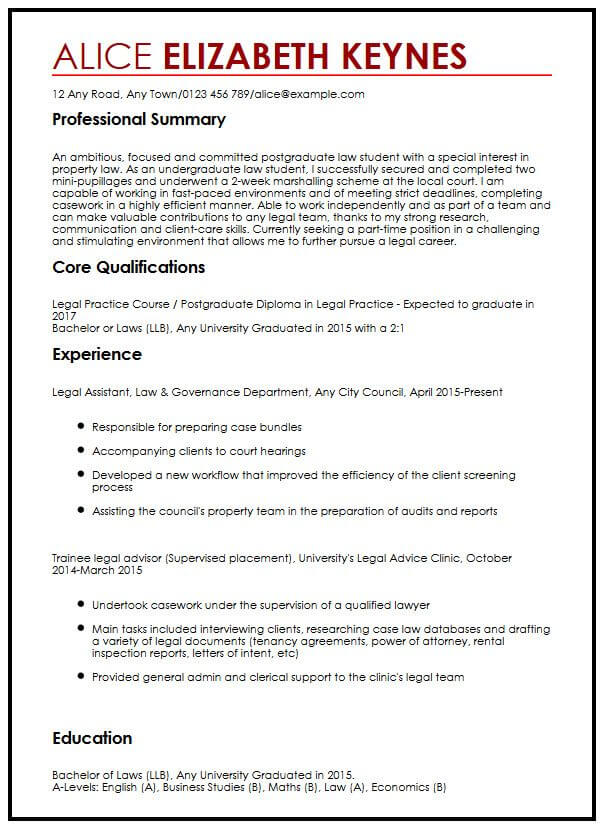 cv example for law students myperfectcv economics student resume sample should you Resume Economics Student Resume