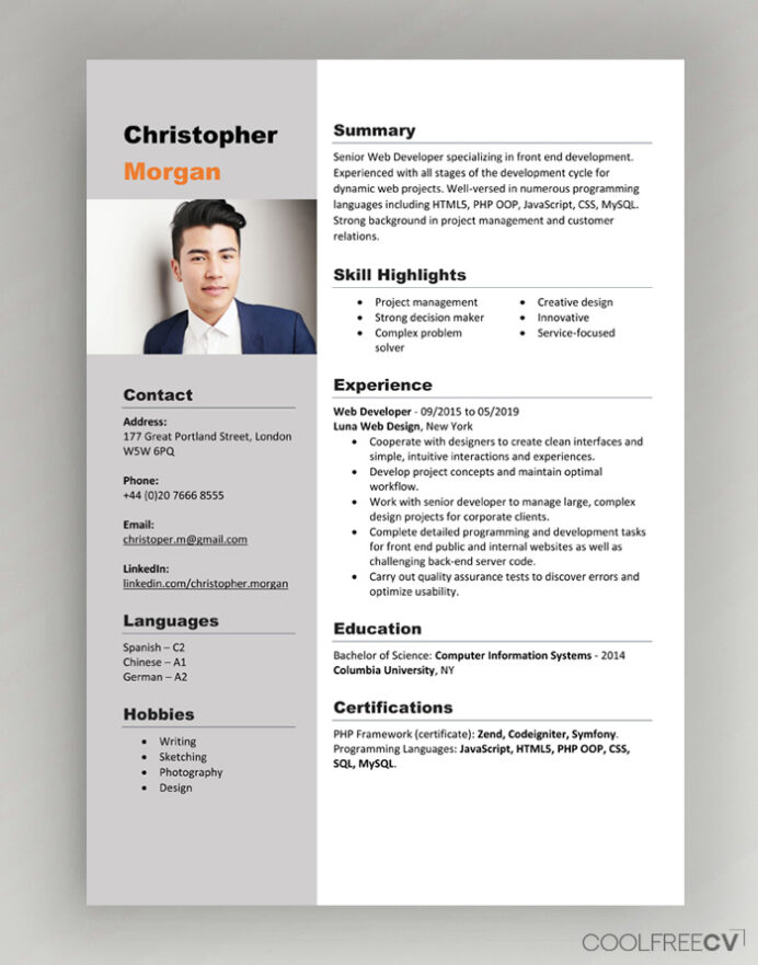 cv resume templates examples word free with photo cashier bullet points best office Resume Free Resume Templates Word 2020