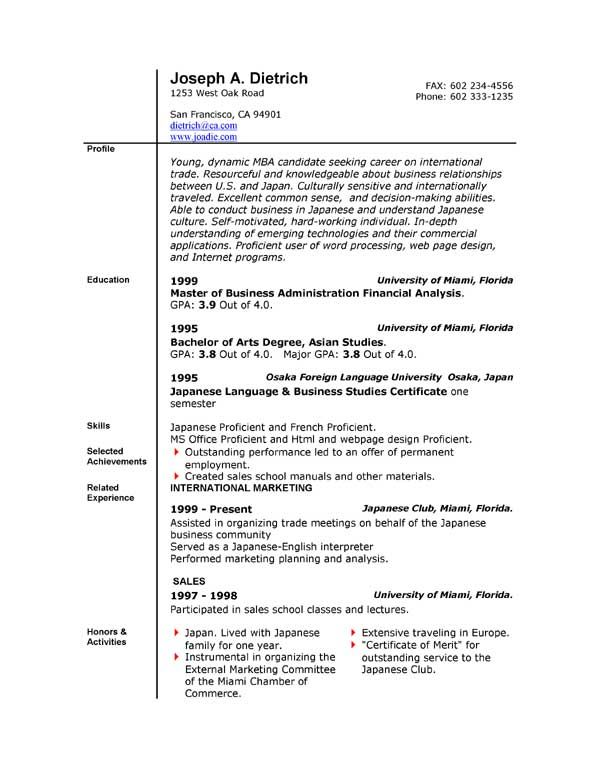 cv template office free resume word downloadable sample civil work quotation format Resume Office 365 Resume Template