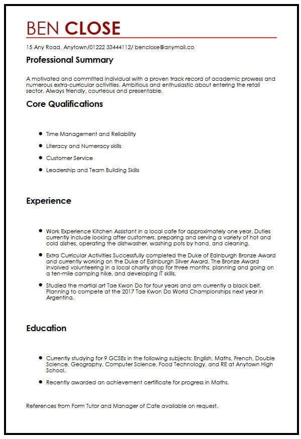 cv template teenager resume format student examples currently studying on sample Resume Currently Studying On Resume