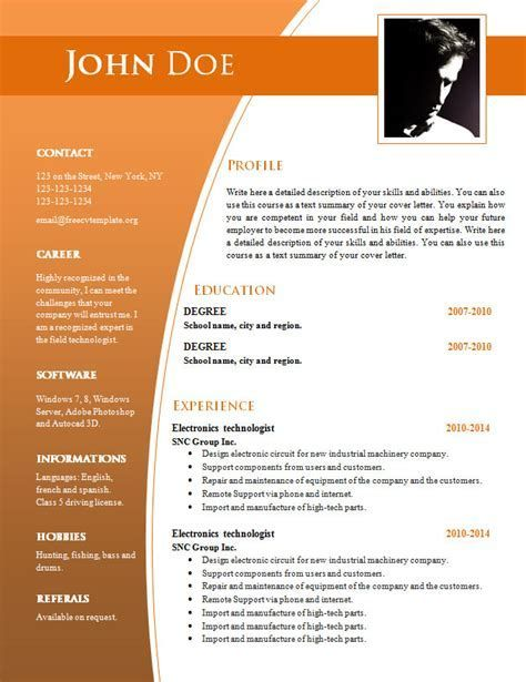cv templates for word free template resume downloadable laminating education description Resume Free Resume Word Download