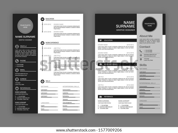 cv templates professional resume letterhead cover stock vector royalty free 600w self Resume Professional Resume Letterhead