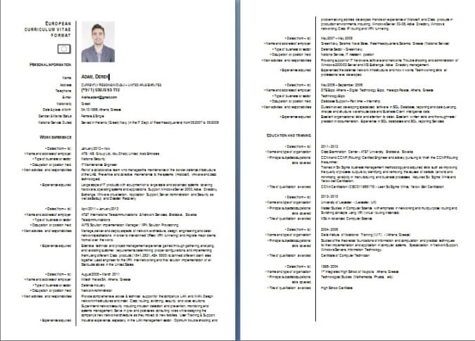 cv writing sample and resume example from dubai forever format curriculum vitae europass Resume Gulf Resume Format Sample