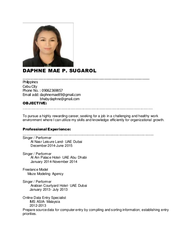daphne new resume for job singer objective professional human resources reply email Resume Singer Resume Objective