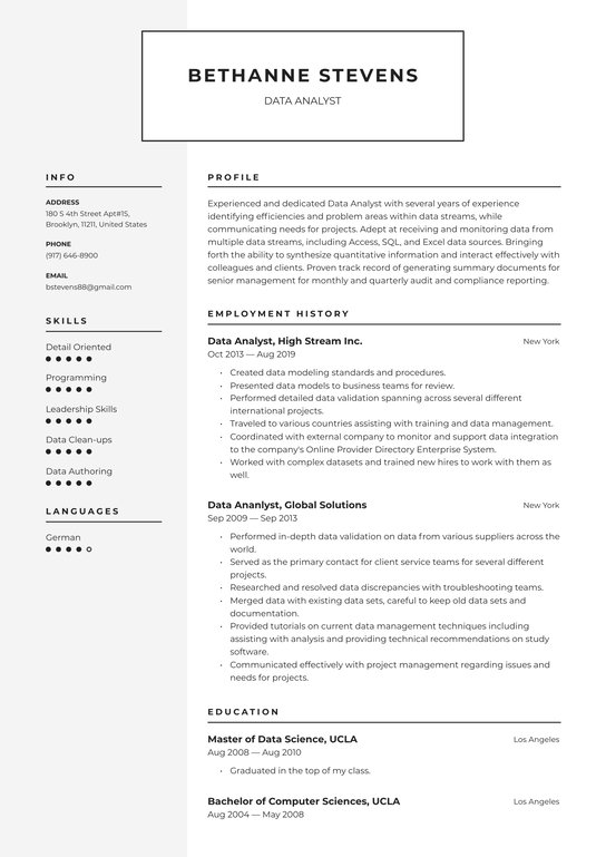data analyst resume examples writing tips free guide io excel analysis content producer Resume Excel Data Analysis Resume