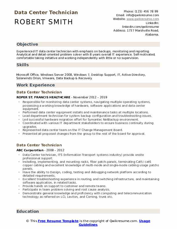 data center technician resume samples qwikresume political science objective examples pdf Resume Political Science Resume Objective Examples