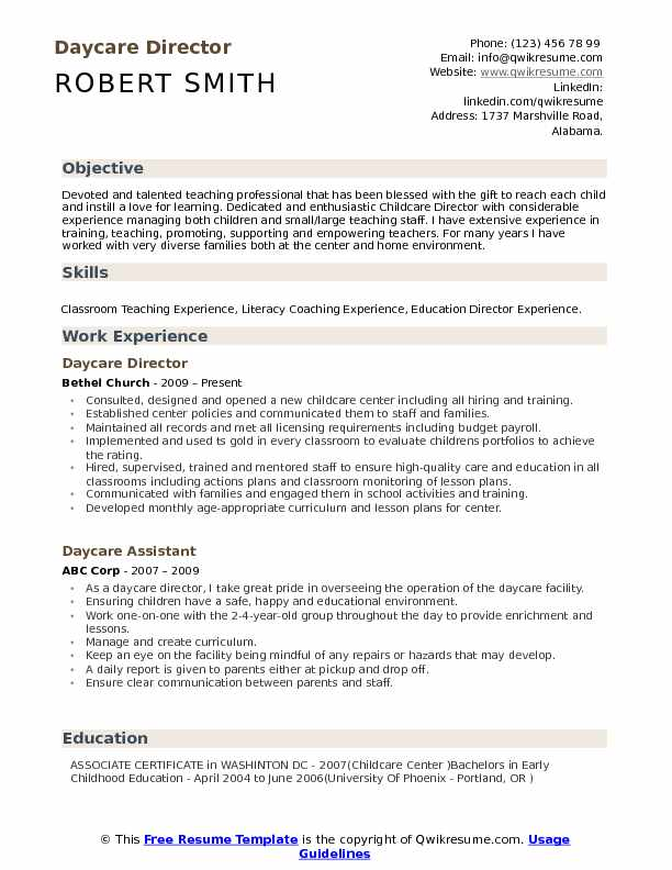 daycare director resume samples qwikresume preschool sample pdf master or masters on Resume Preschool Director Resume Sample