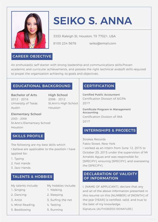 declaration for resume best examples use career cliff good free college template Resume Good Declaration For Resume