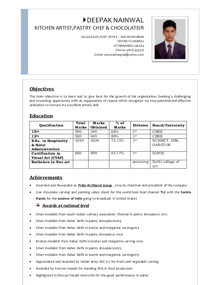 deepaks resume 3pgs south indian format lva1 app6892 thumbnail machinist performance Resume South Indian Cook Resume Format