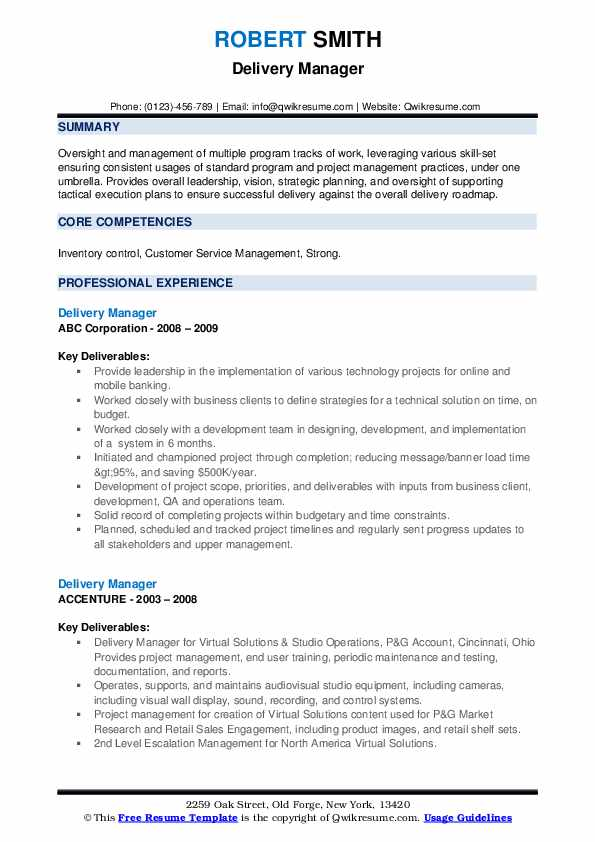 delivery manager resume samples qwikresume director pdf career perfect service reviews Resume Delivery Director Resume