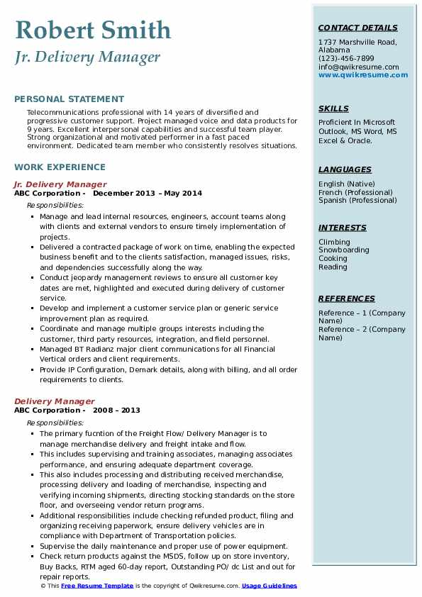 delivery manager resume samples qwikresume director pdf massage therapist objective Resume Delivery Director Resume