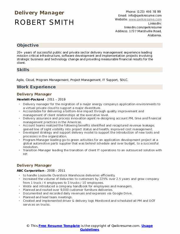 delivery manager resume samples qwikresume sap service pdf job interview without Resume Sap Service Delivery Manager Resume