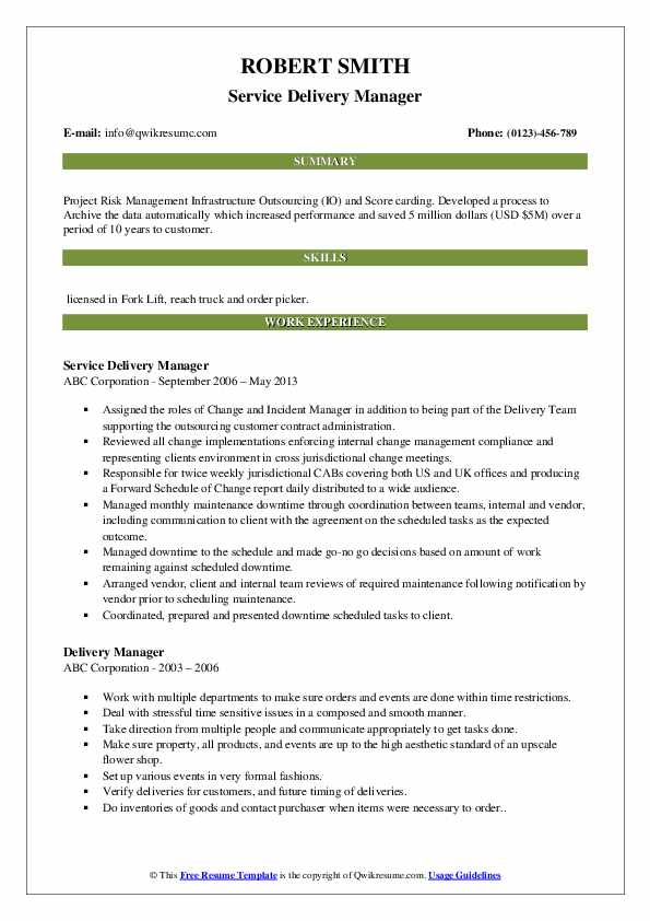 delivery manager resume samples qwikresume sap service pdf military experience on job Resume Sap Service Delivery Manager Resume
