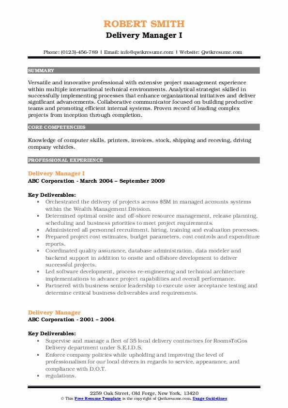 delivery manager resume samples qwikresume sap service pdf simple business template Resume Sap Service Delivery Manager Resume