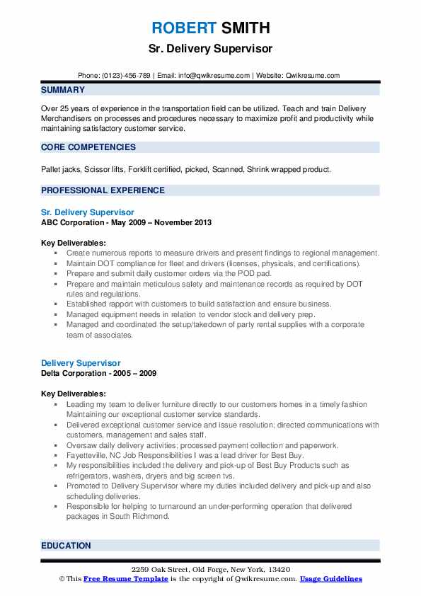 delivery supervisor resume samples qwikresume pdf general administration equity research Resume Delivery Supervisor Resume