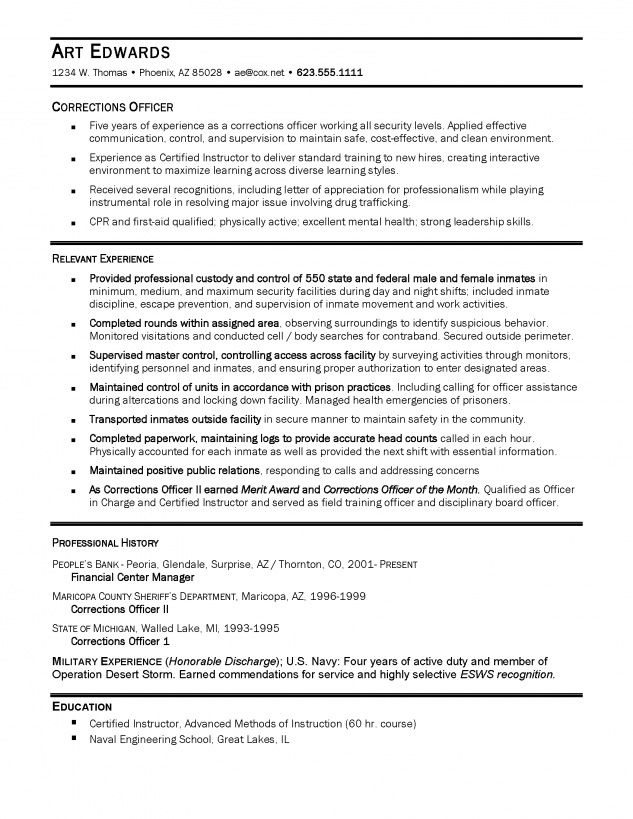 detention officer resume example http topresume info job samples examples correctional Resume Correctional Officer Resume