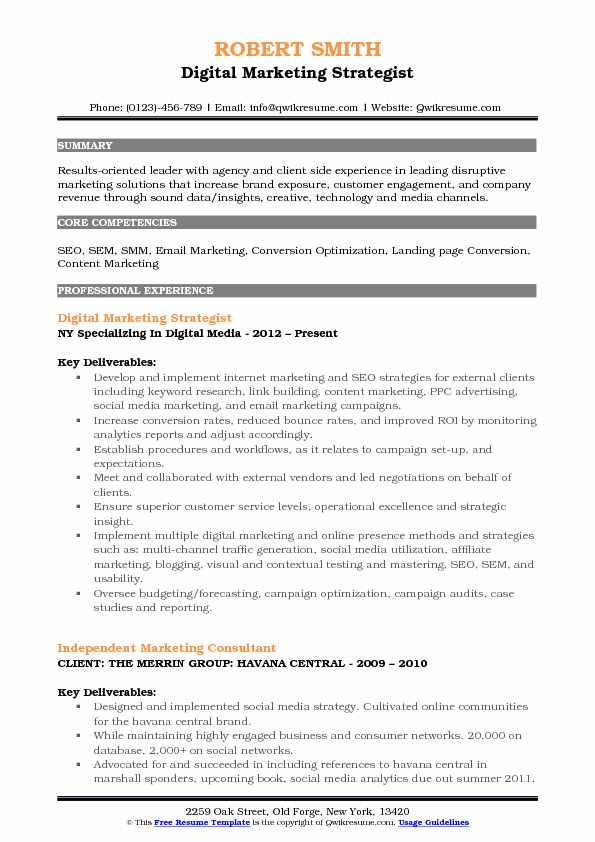 digital marketing strategist resume samples qwikresume social media pdf office clerk high Resume Social Media Strategist Resume