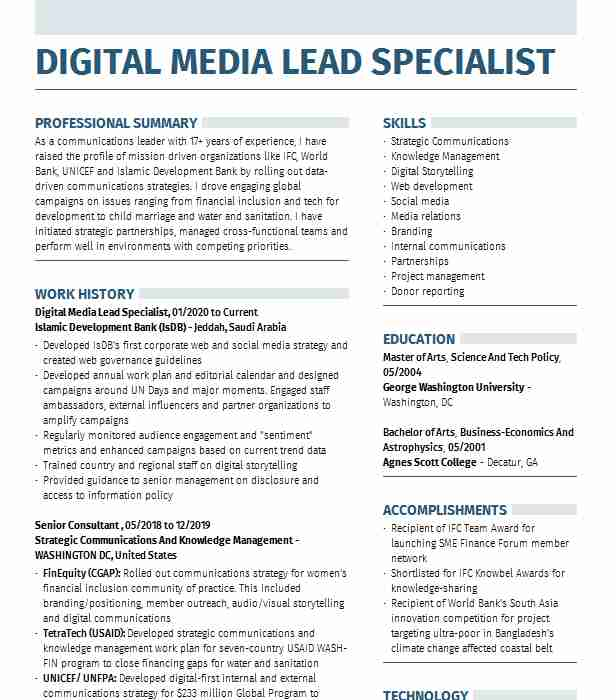 digital media specialist resume example 802cars montpelier social sample access control Resume Social Media Resume Sample