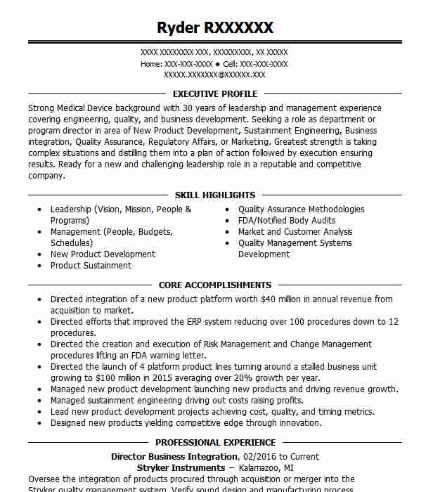 director of business integration resume example accent food services round merger and Resume Merger And Acquisition Resume