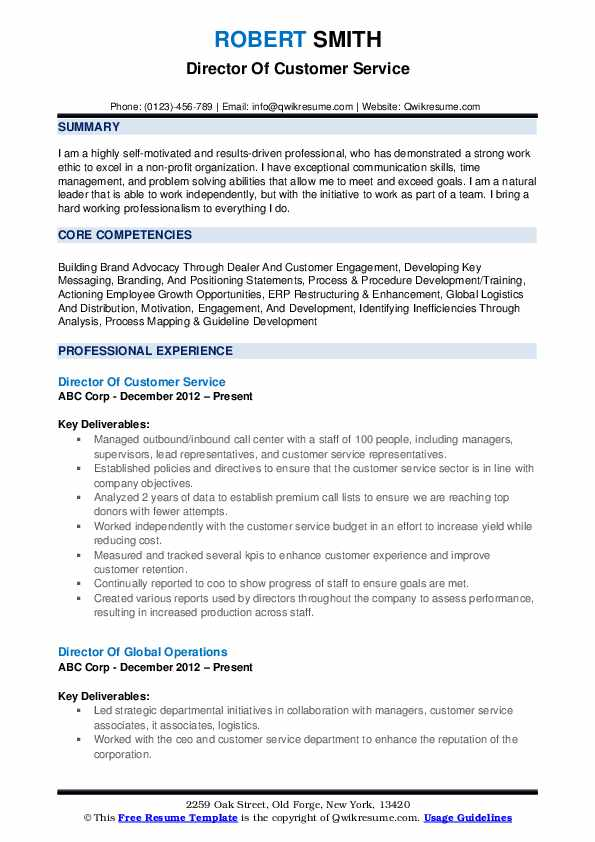 director of customer service resume samples qwikresume objective statement for example Resume Customer Service Objective Statement For Resume Example