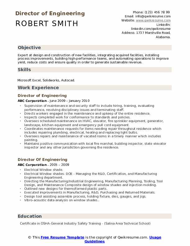 director of engineering resume samples qwikresume technical layout pdf listing degrees on Resume Technical Resume Layout