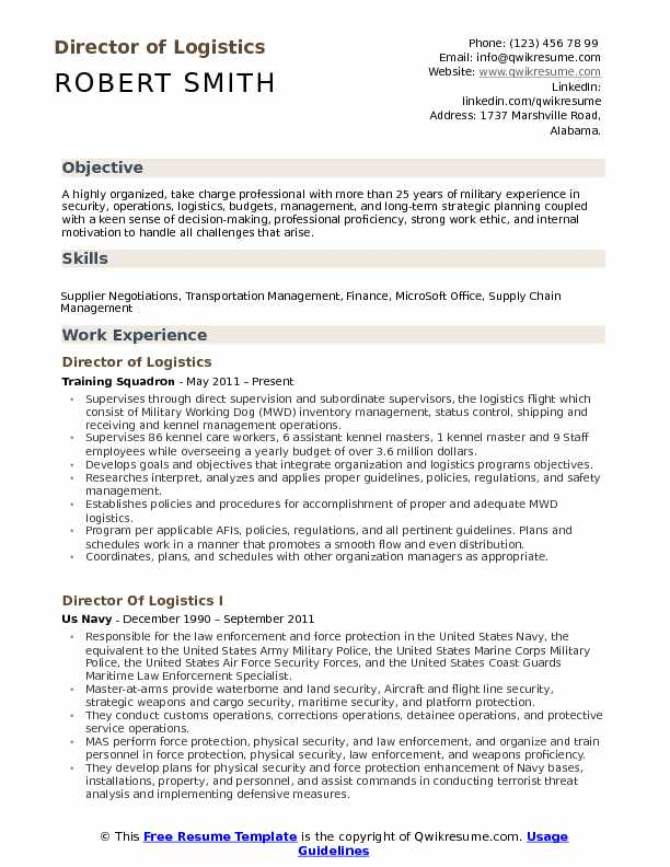 director of logistics resume samples qwikresume sample pdf free templates word nursing Resume Director Of Logistics Resume Sample