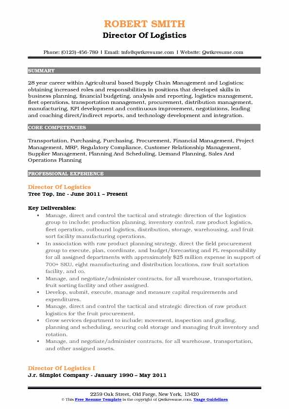 director of logistics resume samples qwikresume sample pdf performance examples best Resume Director Of Logistics Resume Sample