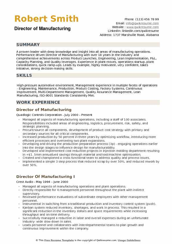director of manufacturing resume samples qwikresume examples pdf agent darwin taleo Resume Manufacturing Resume Examples