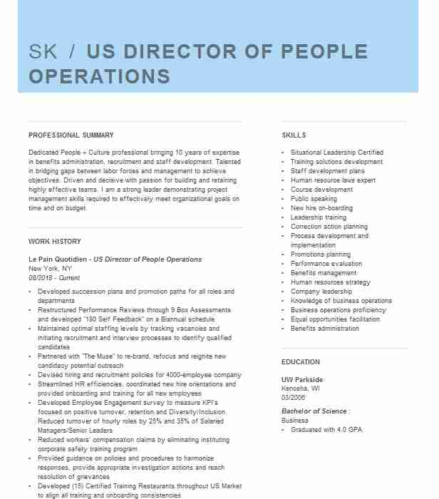 director of people operations resume example providertrust nashville jitco format for Resume People Operations Resume