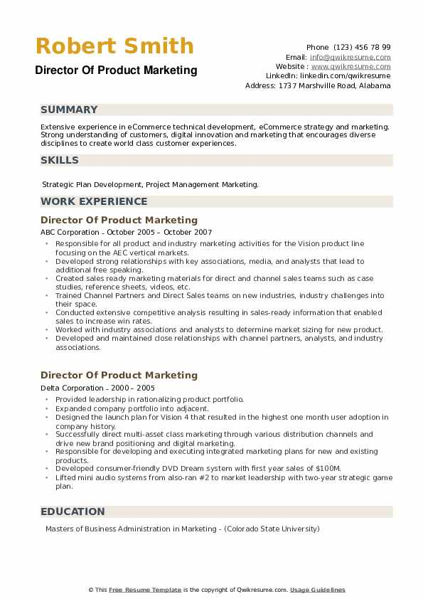 director of product marketing resume samples qwikresume pdf sample for graduate nursing Resume Product Marketing Director Resume