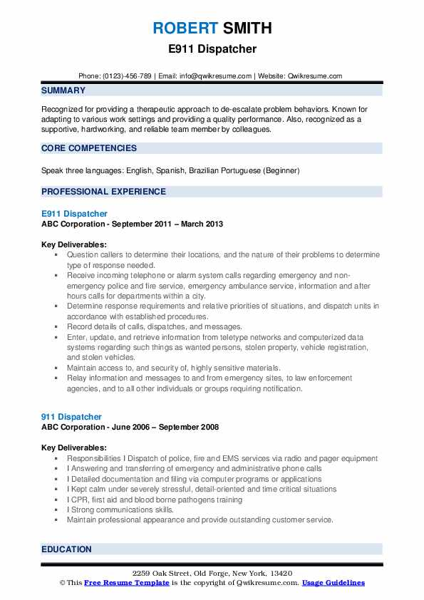 dispatcher resume samples qwikresume skills pdf hulu sample for senior software developer Resume Dispatcher Resume Skills