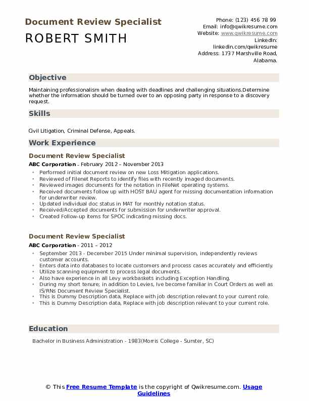 document review specialist resume samples qwikresume describing on pdf can you lie retail Resume Describing Document Review On Resume