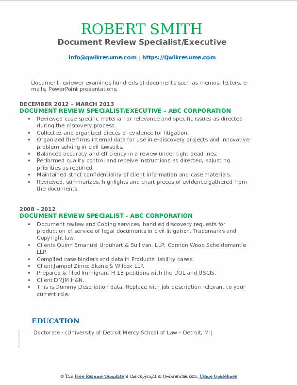 document review specialist resume samples qwikresume describing on pdf college student Resume Describing Document Review On Resume