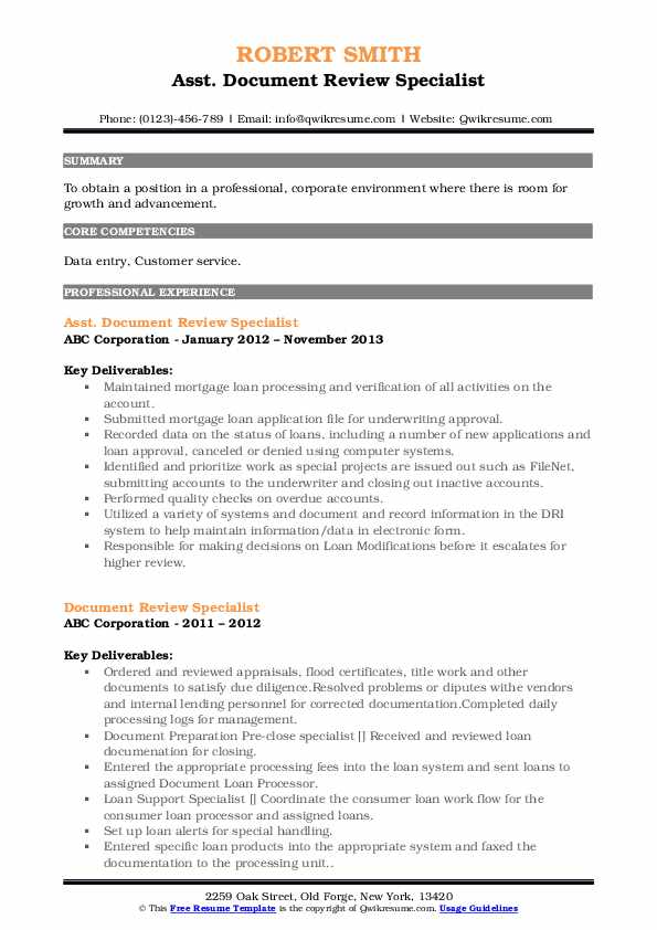 document review specialist resume samples qwikresume describing on pdf entry level Resume Describing Document Review On Resume