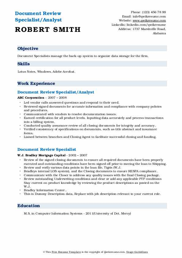 document review specialist resume samples qwikresume describing on pdf for chemistry Resume Describing Document Review On Resume