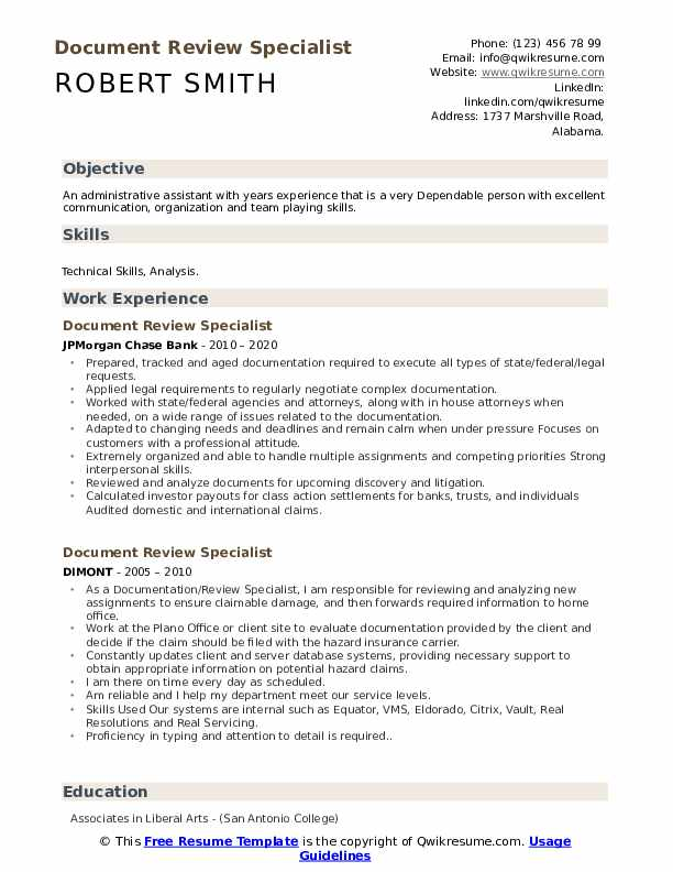 document review specialist resume samples qwikresume describing on pdf good skills for Resume Describing Document Review On Resume