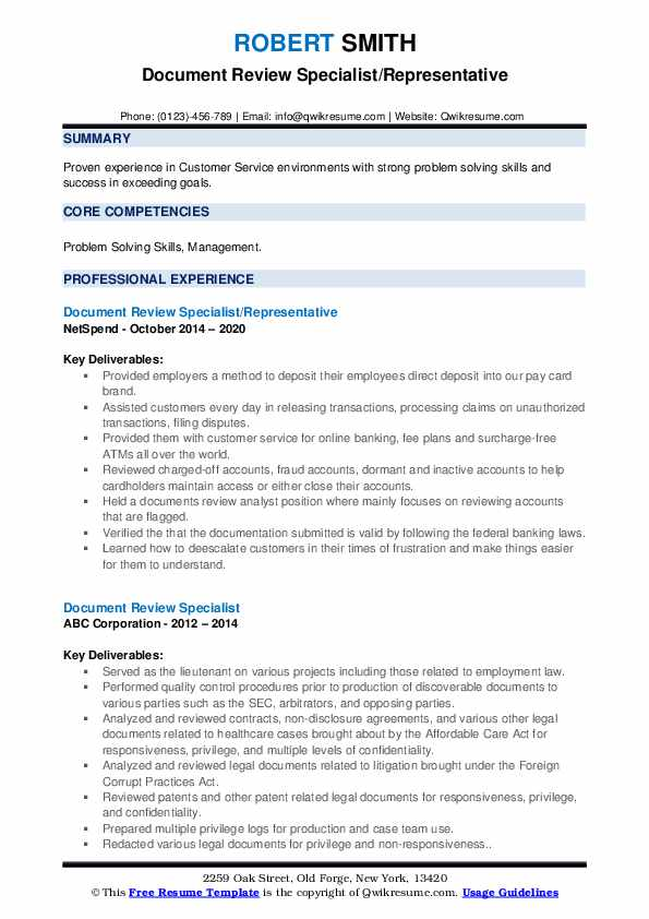 document review specialist resume samples qwikresume describing on pdf professional Resume Describing Document Review On Resume